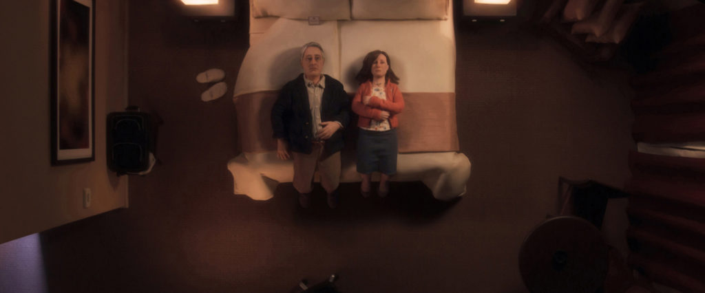 David Thewlis voices Michael Stone and Jennifer Jason Leigh voices Lisa in the film, ANOMALISA, by Paramount Pictures
